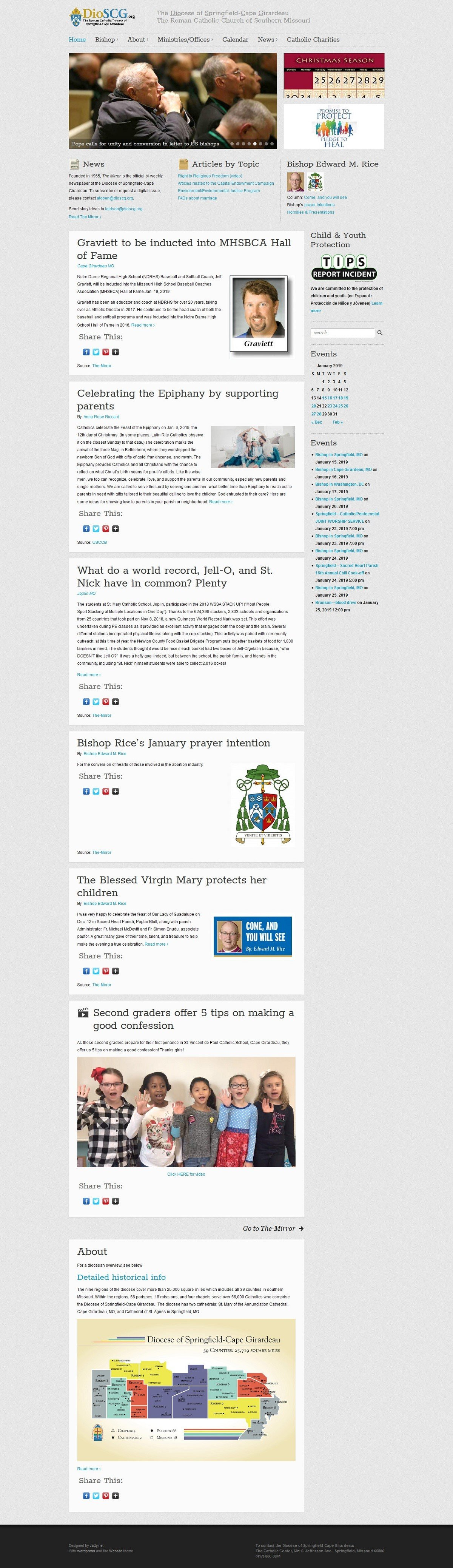 Screenshot of a website with Wordpress designed for a large nonprofit.