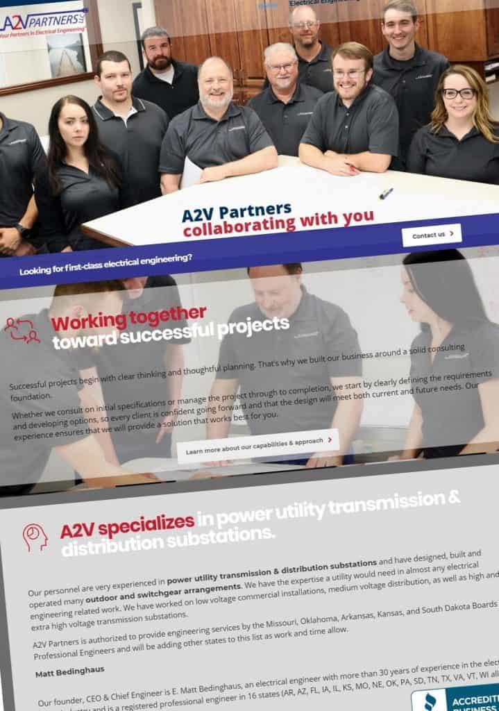 Screenshot of a website design