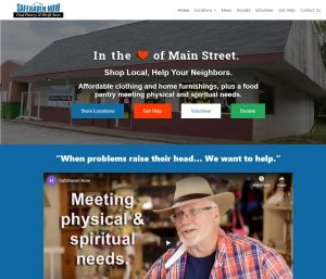 Screenshot of a WordPress web design project for a local nonprofit
